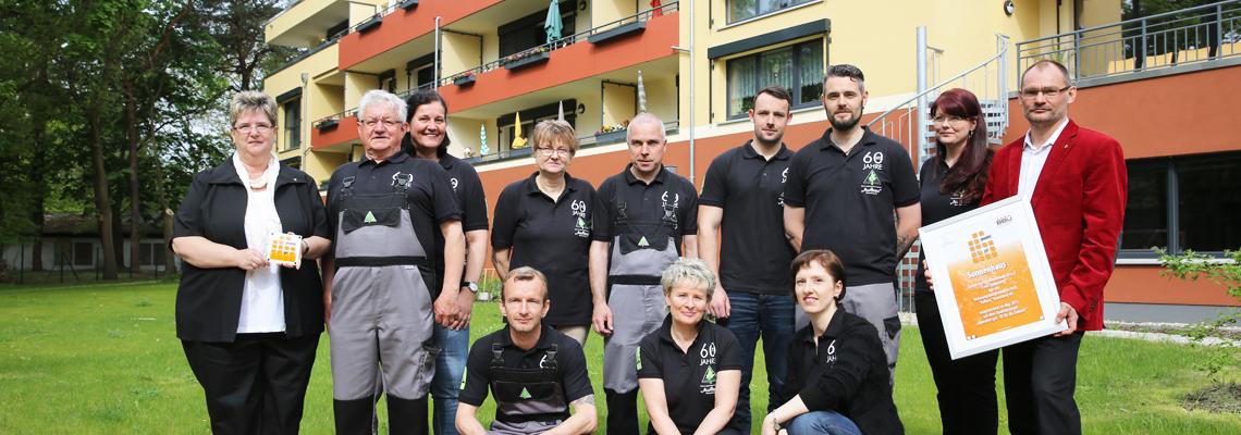 Das Team der WBG Aufbau zur Auszeichnung