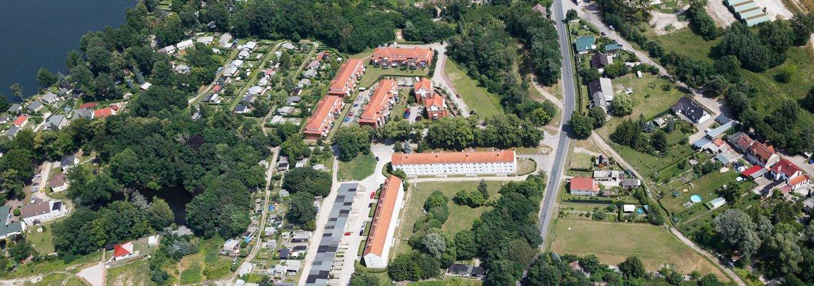 Luftaufnahme vom Wohngebiet