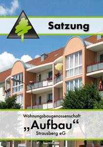 """Das PDF der Satzung der WBG """"Aufbau"""" Strausberg eG"""