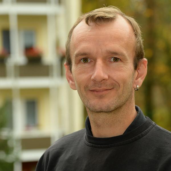 """Mitarbeiter der WBG """"Aufbau"""" Strausberg Sven Janik"""