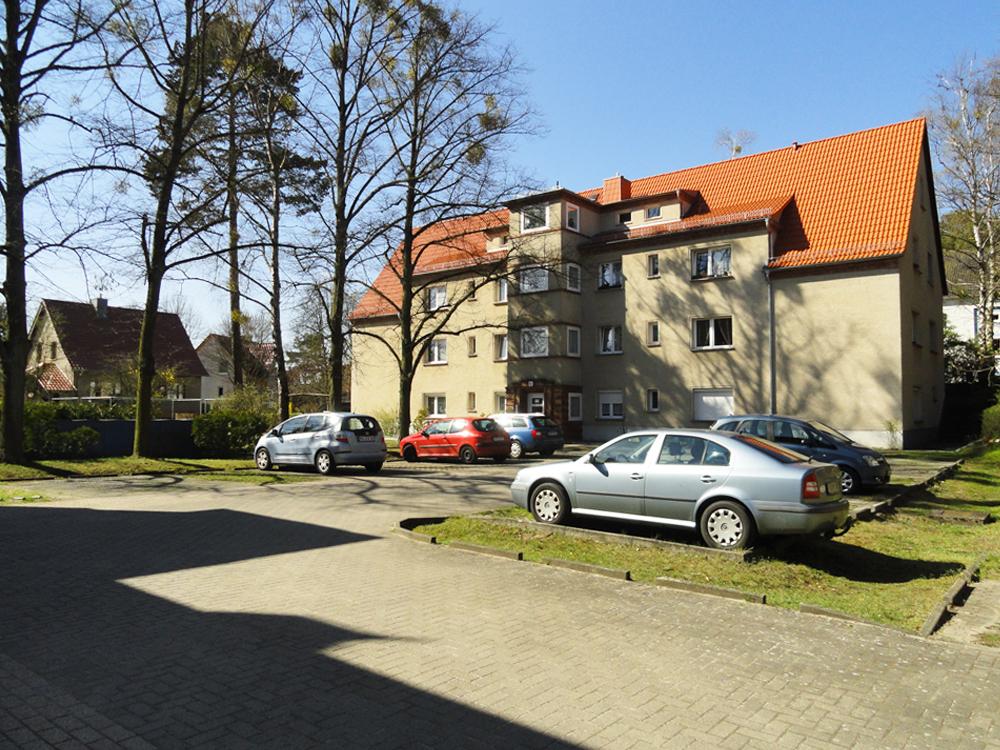 Ein Haus im Wohngebiet Schillerstraße/Friedrich-Ebert-Straße