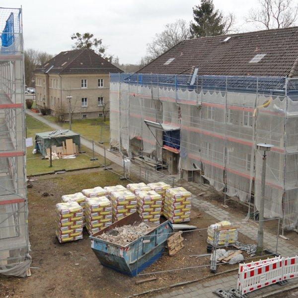 Baubeginn Mittelstraße Seehaus-Siedlung