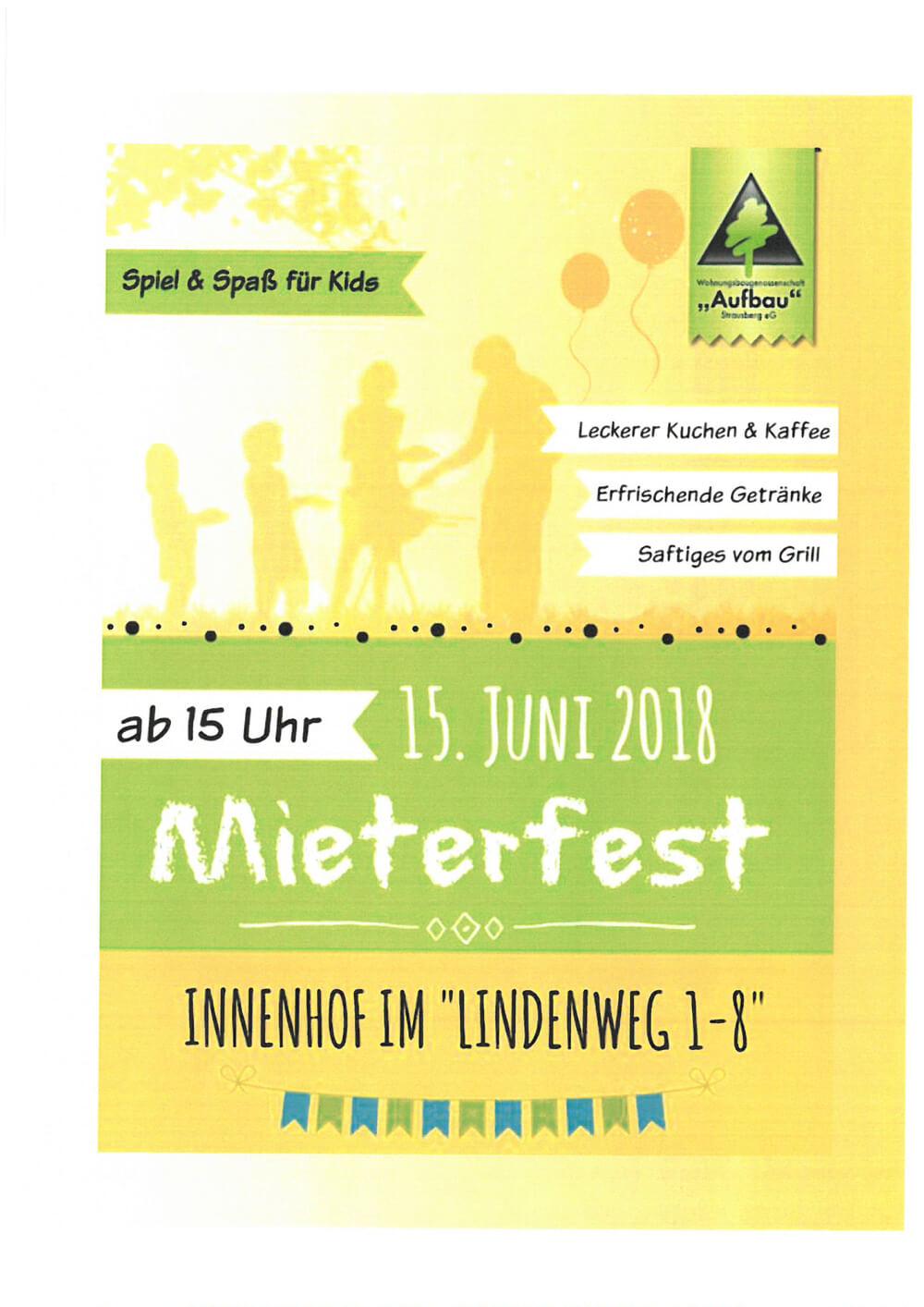 Plakat zum Mieterfest in Hennickendorf