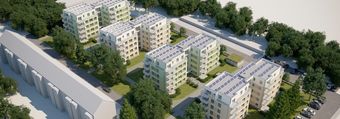Quartier am Märchenwald: Neubau von 4 energieeffizienten Stadtvillen in Strausberg